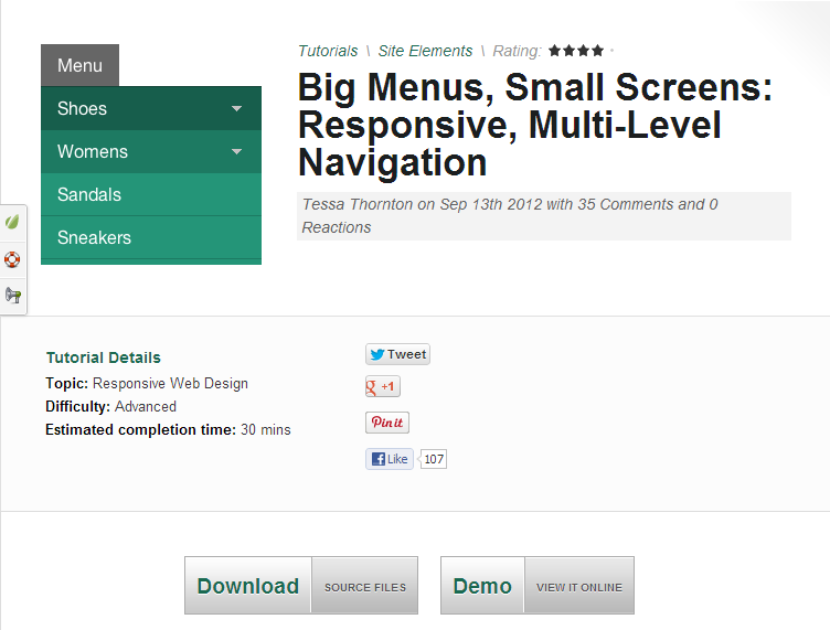 Big Menus  Small Screens  Responsive  Multi Level Navigation   Webdesigntuts